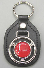 Red STUDEBAKER Steering Wheel Black Leather Keyring 1957 1958 1959 1960 1961
