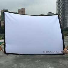 "120"" 4:3 Good Price Reviews Portable 3D DLP HD Home Projector Screen for Sale"