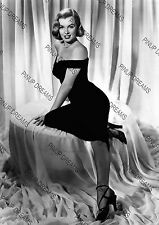 Vintage A4 Movie Photo Poster Wall Art Print of Marilyn Monroe in Black Dress