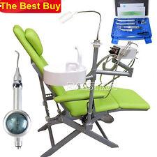 Dental Portable Folding Chair + Turbine LED Light Green + Handpieces Free Gift