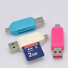 New OTG USB Micro SD Memory Card Reader for Tablet PC Cellphone Android 2 in 1