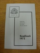 1972 Cricket: English Schools Association - Handbook. Thanks for taking the time