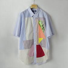 COMME des GARCONS JUNYA WATANABE MAN_Blue Patchwork Shirt_size L_2016 S/S