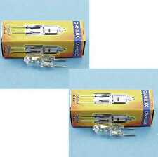 2 x OMNILUX JC 12V/50W G-6,35 2900K Halogen-Studiolampe Stiftsockel-Lampe G6,35