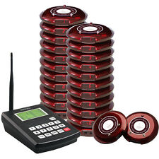 SINGCALL Wireless Kitchen Coaster Paging System,Guest calling pagers, 20 Buttons
