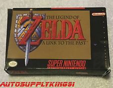 THE LEGEND OF ZELDA: A LINK TO THE PAST Super Nintendo SNES Game w/ Custom Box