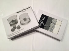 3 Kinds Whiskey Whisky Scotch Soapstone Cold Glacier Stone Ice Cubes Rocks w Bag