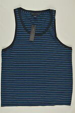 NEW MEN'S MARC BY MARC JACOBS BLUE STRIPED TANK TOP TEE SZ XL $78 #63-68775