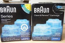 Braun CCR2 Clean & Renew Cleaning Fluid Cartridge Lemon scent 2 Pack Each!