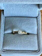 diamond ring .27 Carat Diamond Set In 18 Kt Gold Size H Or I