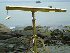 Large Brass Telescope & Stand Antique Maritime-Film Prop-Shop Display Sale Price