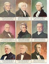 1964 General Mills PRESIDENTS OF THE UNITED STATES  Near card set 30 of 35 Rare