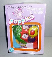 Vintage Ben Cooper 1986 POPPLES Halloween Costume and Mask In Box Nice Shape!