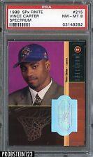 1998 SPx Finite Spectrum #215 Vince Carter Rookie RC Raptors 6/25 PSA 8 NM-MT