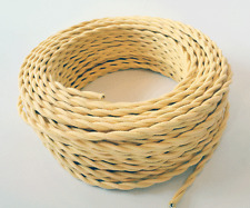 WAXBERRY YELLOW - Cloth Covered Electrical Wire 25 ft - Braided wire - Fabric