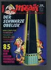 Mosaik Nr. 228 - Der schwarze Obelisk - 1994