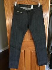 WeSC New Raw/Dry Japanese Selvage Denim Skinny Jeans 34