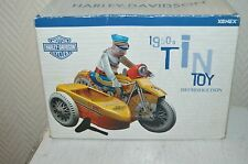 MOTO SIDE-CAR POLICE 1950  MOTOR HARLEY DAVIDSON TOY COLLECTION EN TOLE NEUF