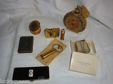 Vintage Makeup and Perfume Lot Volupte, Helena Rubinstein, Compacts, Lipsticks
