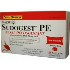 Sudogest PE Nasal Decongestant 36 Ct. Compare To Sudafed PE