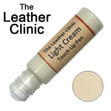 LIGHT CREAM Leather Paint Touch Up for Sofa Car Shoes Handbag & more.