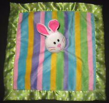 Little Wishes Bunny Stripes Green Dots Security Blanket Plush Baby Hobby Lobby