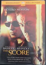 The Score. Widescreen Collection. DVD. Robert De Niro & Marlon Brando- FREE SHIP