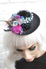MINI cappello nero UCCELLINO Gothic Lolita Gotico Emo Indie Grunge Halloween