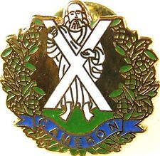 QUEENS OWN CAMERON HIGHLANDERS HAND MADE PLATED IN UK LAPEL PIN BADGE