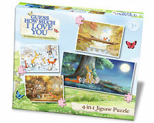 New Guess How Much I Love You 4 in 1 Jigsaw Puzzle Paul Lamond