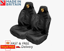 PORSCHE CAR SEAT COVERS PROTECTORS SPORTS BUCKET HEAVYDUTY WATERPROOF - TURBO