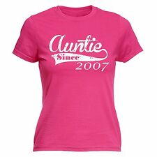 Auntie Since WOMENS T SHIRT - Any Year aunt aunty gift present newborn baby tee