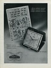 1946 Angelus Clock Co Switzerland Swiss Print Ad Publicite Suisse Schweiz CH