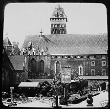 LIESEGANG Glass Magic lantern slide MARIENBURG CHURCH NO2 C1910 POLAND