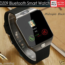 Black DZ09 Bluetooth Smart Watch Phone + Camera SIM Card For Android IOS Phones