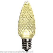 1 C9 Warm White Faceted Christmas Light LED Replacement Bulb Dimmable 5 Diode