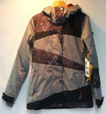 Roxy Women's Rydell Snowboard Winter Jacket Anthracite Gray Floral Size XS NEW