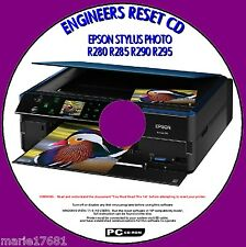 EPSON PHOTO R280 R285 R290 R295 PRINTER WASTE INK PAD RESET ENGINEER UTILITY CD