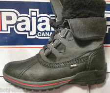 MENS PAJAR BLACK QUALITY CANADIAN WINTER/SNOW BOOTS WATERPROOF & WARM UK SIZE 8