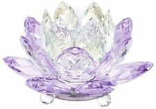 swarovski  :  Waterlily Candelholder Violet  New 5066011