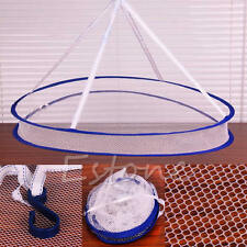 Portable Folding Drying Rack Laundry Sweater Basket Dryer Net Hanging Clothes