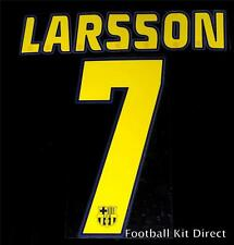 Official Barcelona Larsson 7 2005-06 Football Shirt Name/Number set