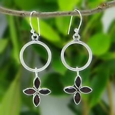 925 argent sterling incroyable grenat Stopne goutte Earrings bijoux indiens