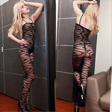 Fishnet Babydoll Dress Set Sexy Lingerie Underwear open crotch BODYSTOCKING O155