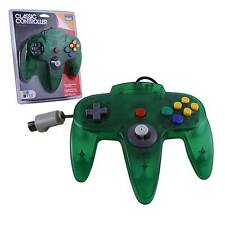 N64 Nintendo 64 CONTROLLER CLASSIC CLEAR GREEN N64 LONG HANDLE Original Style