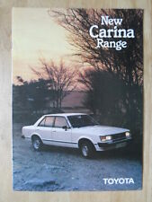 TOYOTA CARINA 1980 UK Mkt Stapled Sales Brochure