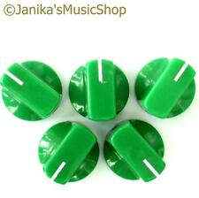 5 green potentiometer switch knobs guitar  amplifier etc stove pot knob + screw
