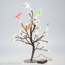 45cm Cherry Blossom Butterfly Tree Table Lamp Fairy Light For Christmas Party US