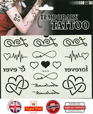Love Heart Waterproof Temporary Tattoo Transfer Sticker Body Art  Women YM-K129