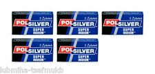 25 Polsilver Super Iridium Double Edge Razor Blades